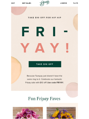 The Bouqs Company - Bouqs Friyay All Day! Here's $10 🌸💸