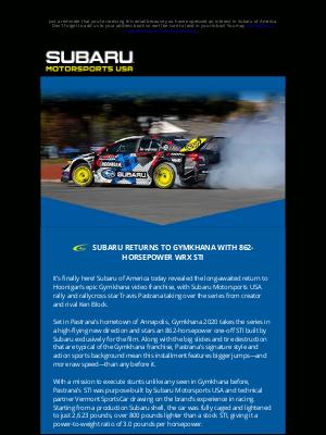 Subaru of America - GYMKHANA 2020 IS HERE!