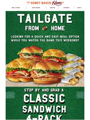 HoneyBaked Ham Online - 🏈Grab-n-go! $24.99 Classic Sandwich 4-Pack!