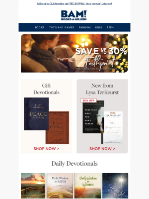 Books-A-Million - SAVE Up To 30% on Inspirational Books, Devotionals & More!