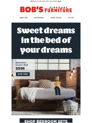 Bob's Discount Furniture - Sweet dreams in the bed of your dreams