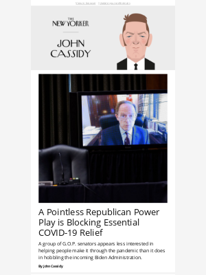 New Yorker - A Pointless Republican Power Play is Blocking Essential COVID-19 Relief