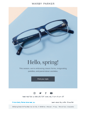 Don't miss our new spring frames