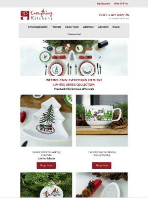 Everything Kitchens - Introducing Fiesta® Christmas Whimsy 🎄
