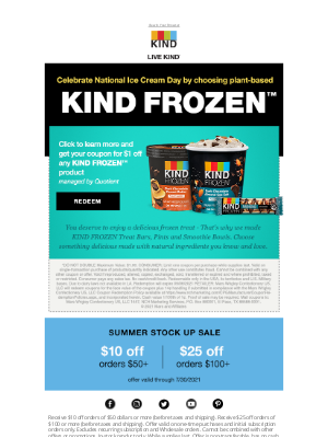 KIND Snacks - $1 In-Store Coupon for KIND FROZEN™