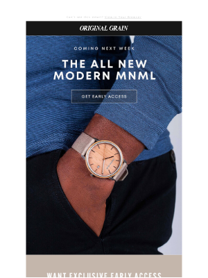 Original Grain - Coming Soon: Modern MNML
