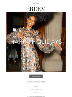Erdem Moralioglu Ltd (UK) - Happy Holidays from ERDEM