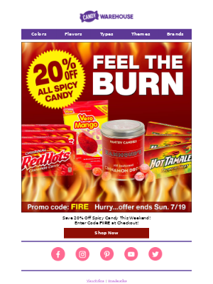 🔥 20% Off Spicy Candy - Feel️ the Burn 🔥