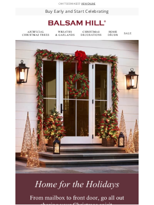 Balsam Hill - Greet the Season with a Holiday Hello