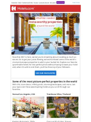 Hotels - Insta-worthy properties around the world