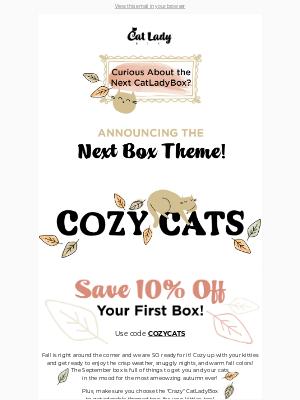 Next CatLadyBox Theme!😺🍂