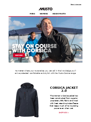 Musto UK - The Corsica Collection