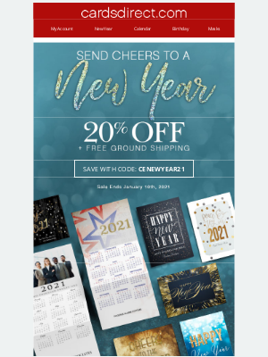 CardsDirect - Ring in 2021 with New Year Cards & Calendars!