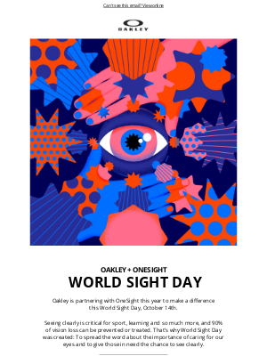 Oakley - Make A Difference This World Sight Day