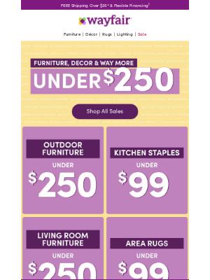 < SALE > Home essentials UNDER $250