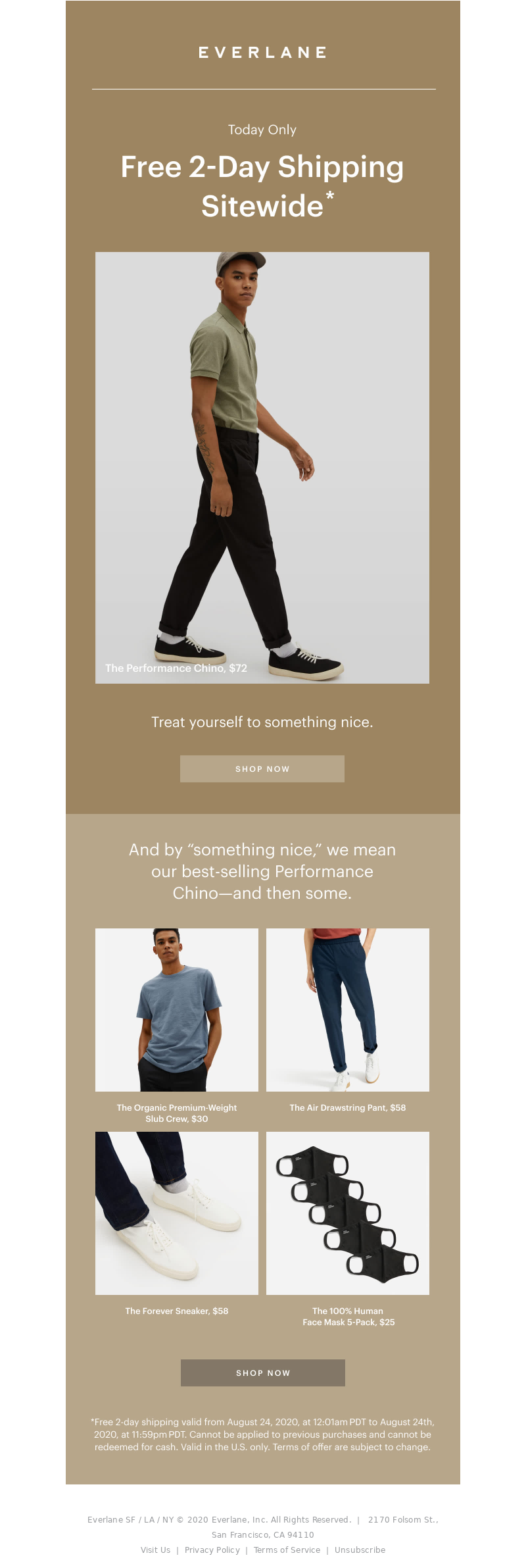 Sale email example
