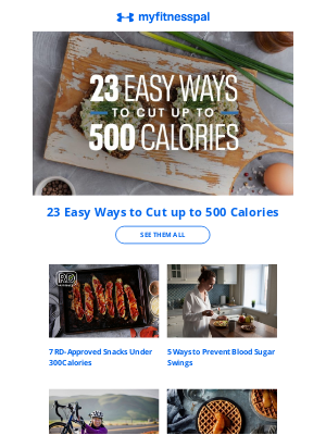 MyFitnessPal - 23 Easy Ways to Cut up to 500 Calories