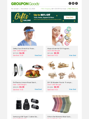 Groupon - ✏ Just the Facts: Up to 80% Off Tech & More