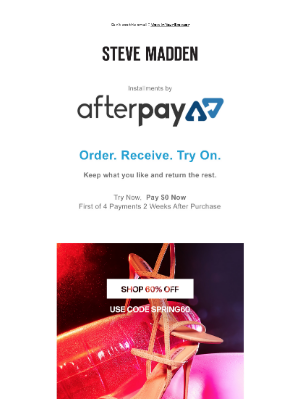 Pay $0  Try Now, Pay Later