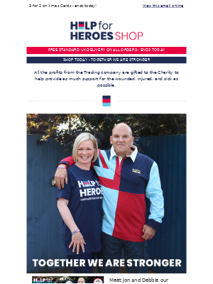 Help For Heroes - FREE UK P&P ends today - Take a look 🤓