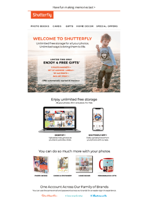 Shutterfly - Welcome to Shutterfly! Enjoy 4 FREE gifts.