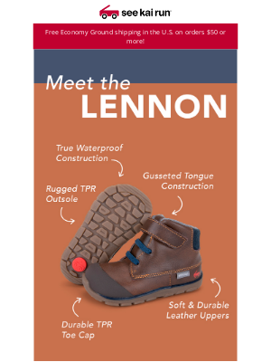 See Kai Run - The Lennon Boot - Leather Comfort Meets Wet Weather Protection