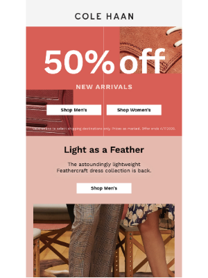 50% off best-selling Feathercraft & Cloudfeel collections