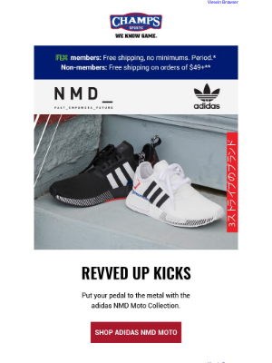 Champs Sports - Get classic adidas gear or earn your racing stripes with the adidas NMD Moto Collection🏎️👟🔥