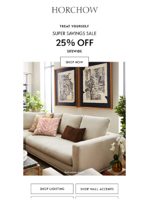 Horchow Mail Order - LAST DAY: 25% off sitewide!