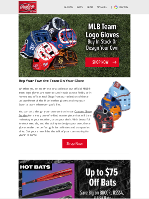 Rawlings Sporting Goods - Rep Your Favorite Team Wherever You Take Your New Glove