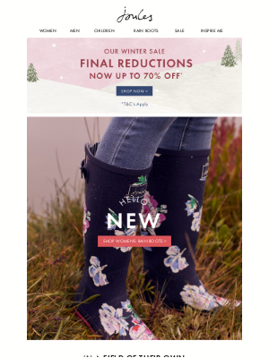 Joules (UK) - Get your feet into our new collection of rain boots