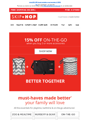 Skip Hop - Buy More, Save More: On-The-Go Edition!