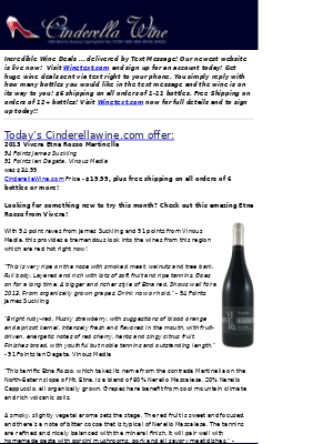 Wine Library - 2013 Vivera Etna Rosso Martinella (94 JS, 91 VM) Secret Price Inside. Free ship on 6