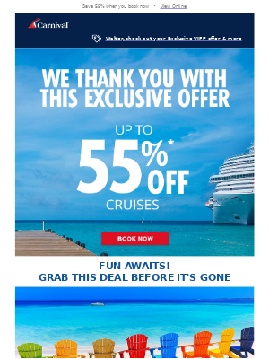 Plan your vacation today with this exclusive offer