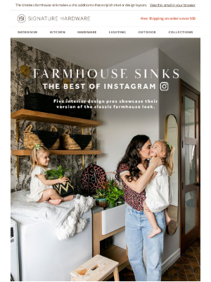 Signature Hardware - Farmhouse Refresh: 5 Influencers Share Their Sink Style