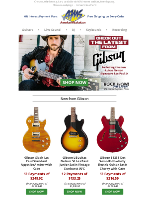 See What's New from Gibson: Check Out the Latest Today