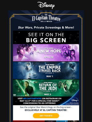 Disney - Exclusive Star Wars Screenings Start Today and More!