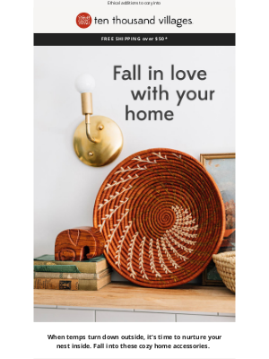 Ten Thousand Villages - Fall in love with your home
