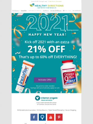 Healthy Directions - EXTRA 21% off Everything = up to 60%
