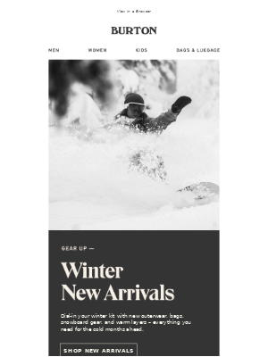 Seasonal New Arrivals Are Here