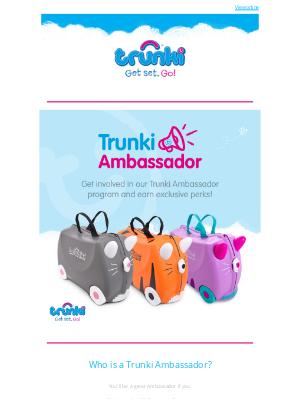 Trunki (UK) - Become a Trunki Ambassador 😀⭐