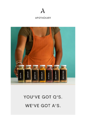 Apothekary - You've Got Q's. We've Got A's.