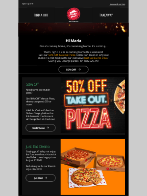 Pizza Hut (UK) - You need this Maria!