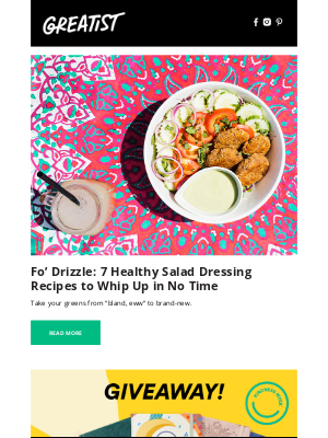 Greatist - Foodie Friday: 7 Salad Dressing Recipes That Will Change Up Your Salad Game