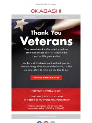 Okabashi Brands - Honoring Our Veterans