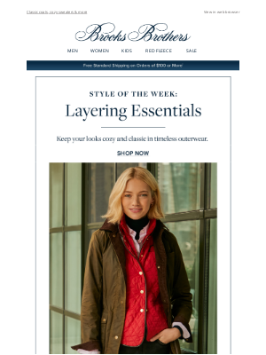 Brooks Brothers - Style of the Week: Layering Essentials