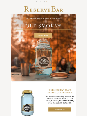 Reserve Bar - Warm Up With a Fall Favorite | Ole Smoky