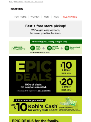 Kohl's - EPIC DEALS for you + your crew!