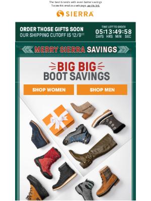 Sierra - SO 👏 many 👏 boots 👏