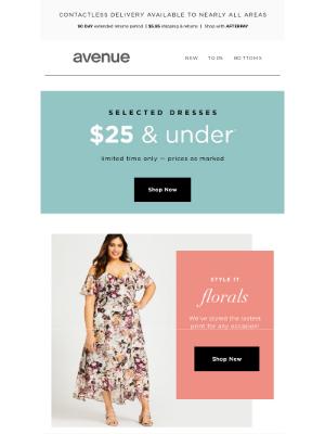 Avenue Stores LLC - 🌸 Summer Florals | $25 & Under* Selected Dresses